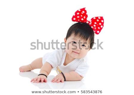 Portrait of Asian baby girl crawling Stock photo © szefei