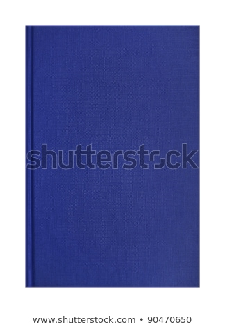 Stock photo: Woven Fabric Book Cover Texture In Blue