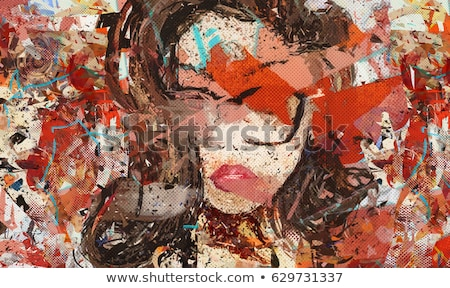 Beautiful woman. Digital art. stock photo © amok