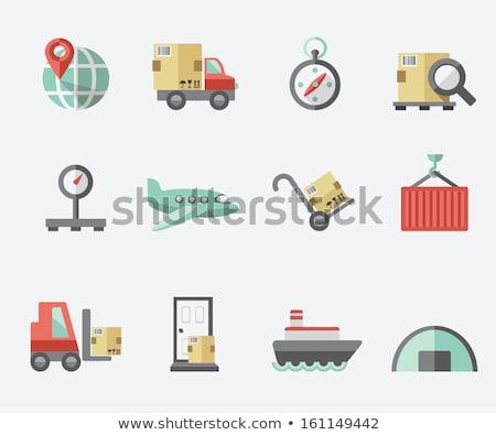 Puerta entrega icono diseno hombre cuadro Foto stock © WaD
