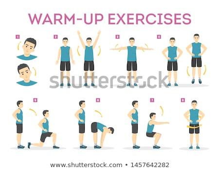 Athletic man warming up Stock photo © deandrobot