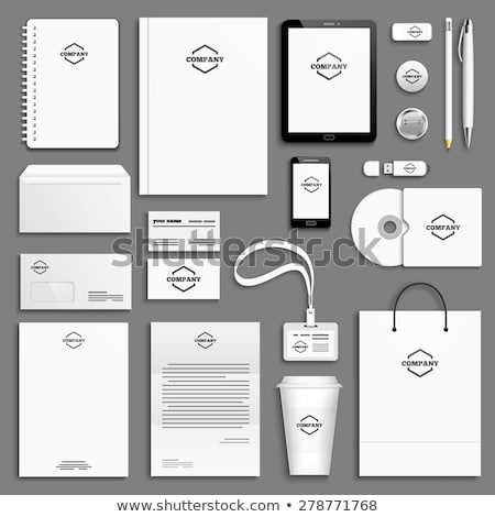 вверх брендинг набор корпоративного личности бумаги Сток-фото © -Baks-