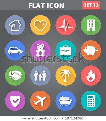 事故 保険 アイコン デザイン 孤立した 実例 ストックフォト © WaD