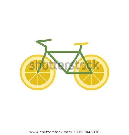 Gyümölcsös bicikli gyümölcsök zöldségek forma részlet Stock fotó © Fisher