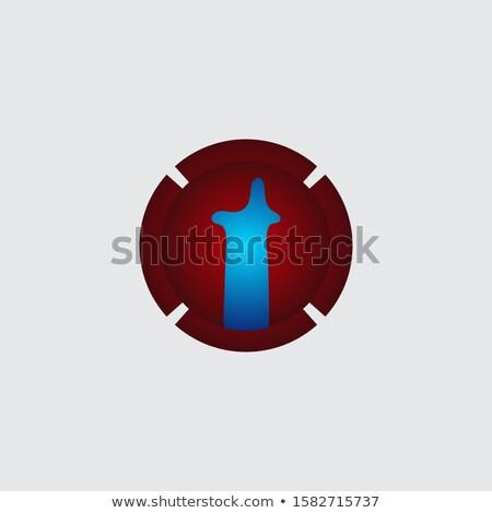 Elegáns t betű logoterv örvény hatás absztrakt Stock fotó © SArts