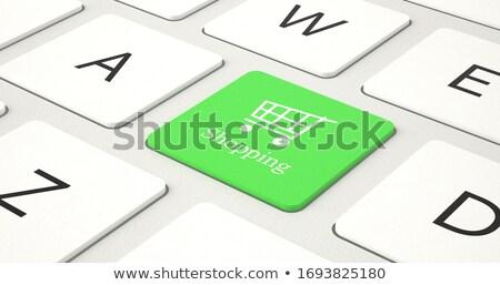 Groene toegang knop toetsenbord 3D Stockfoto © tashatuvango