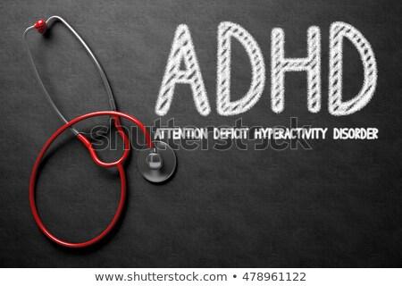 adhd concept on chalkboard 3d illustration stock photo © tashatuvango