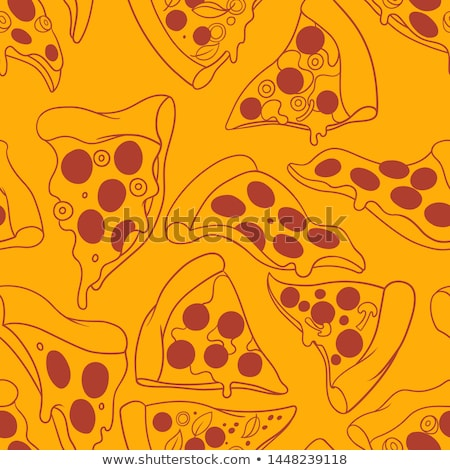 Pizza seamless pattern. Stock photo © biv