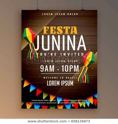 flyer design for festa juinina festical season stock photo © sarts