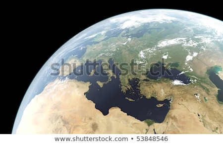 Stockfoto: Earth From Space Showing Europe North Africa And The Middle East