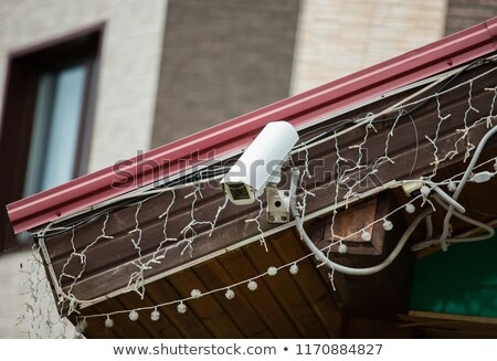 low angle view of security camera housing stock photo © stevanovicigor