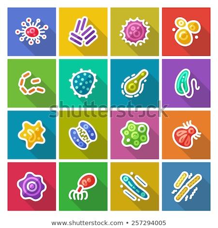 micro · parassita · icona · vettore · colorato · colore - foto d'archivio © ahasoft