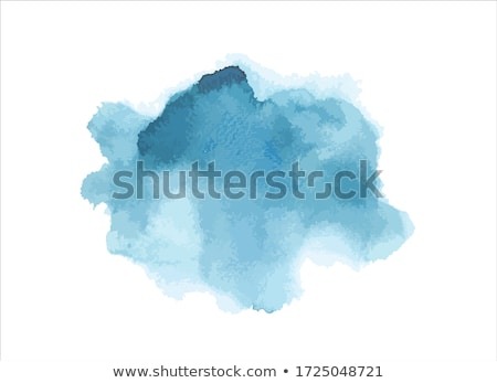 Stock photo: blue ink splash watercolor texture background