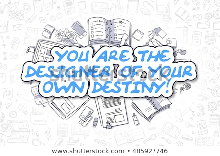 デザイナー 独自の 運命 ビジネス スケッチ 実例 ストックフォト © tashatuvango