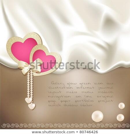 Coeur 3D carte mariage Photo stock © Olena