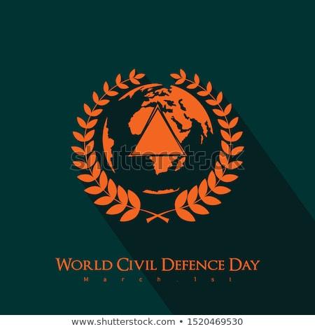 Icône monde civile défense jour résumé Photo stock © Olena