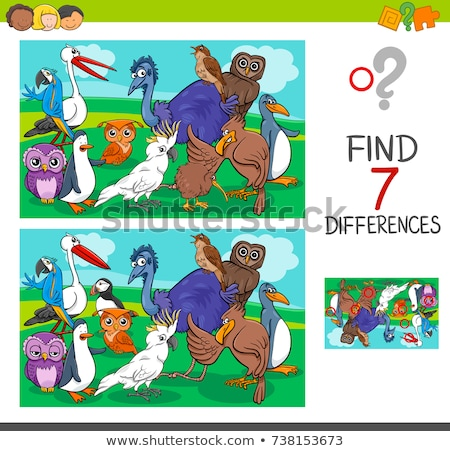 find 7 differences penguin Stock photo © Olena