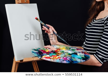 middle of painting the picture black Stock photo © Olena