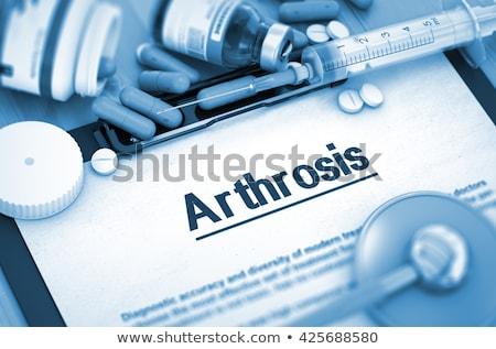 Diagnóstico médico ilustração 3d azul turva texto Foto stock © tashatuvango