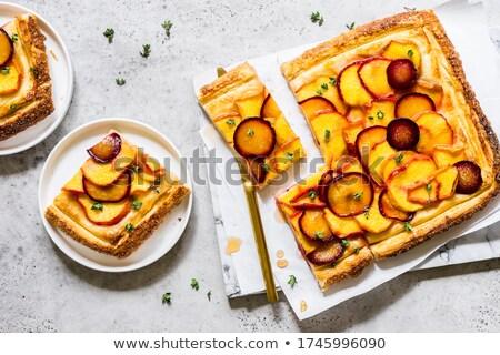 Abricot prune confiture bois planche à découper alimentaire Photo stock © Digifoodstock