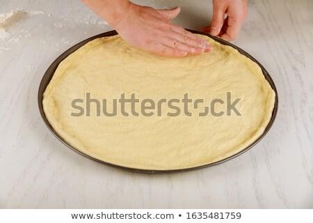生 ピザ 表 ピザ屋 食品 料理の ストックフォト © dolgachov