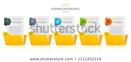 file folder labeled as work processes stock photo © tashatuvango