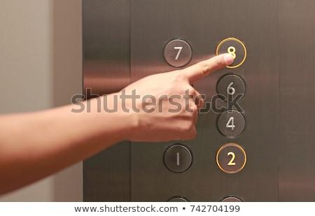 üzletember · kisajtolás · lift · gomb · iroda · ajtó - stock fotó © wavebreak_media