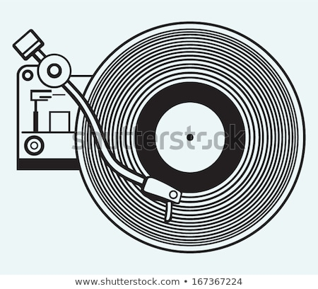 Vinilo jugador clipart imagen baile disco Foto stock © vectorworks51