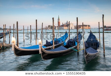 Gondolas and San Giorgio Stock photo © Givaga