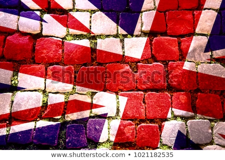 Map of Great Britain in stripes Stock photo © Ustofre9
