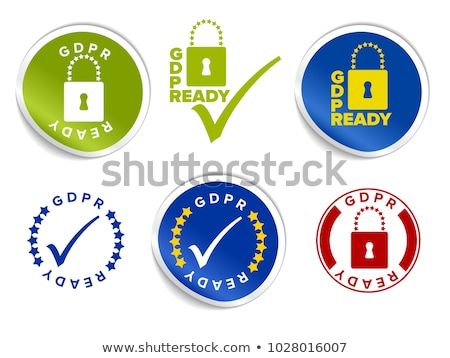European GDPR ready label stamp tag template Stock photo © orson