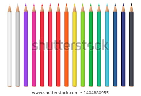 鉛筆 · セット · 文房具 · ベクトル · 木製 · グラファイト - ストックフォト © pakete