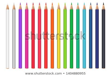 Colorido realista lápis conjunto arco-íris Foto stock © pakete