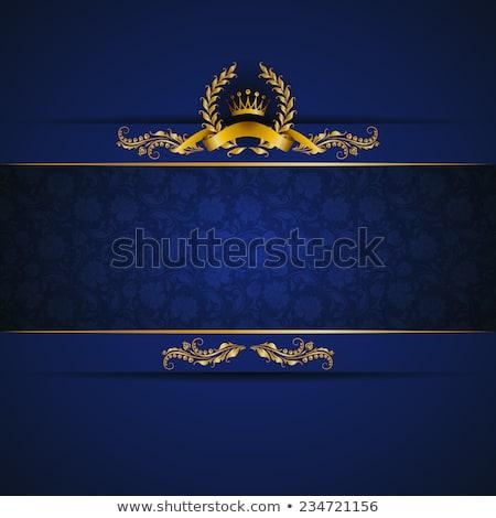 Prim mavi altın dekorasyon çerçeve Stok fotoğraf © SArts