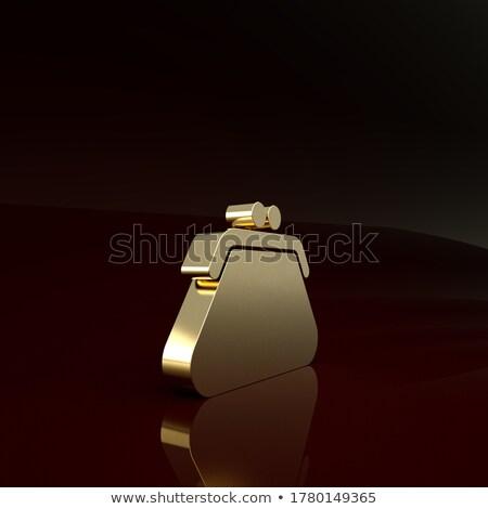 Femenino marrón cuero embrague aislado icono Foto stock © studioworkstock
