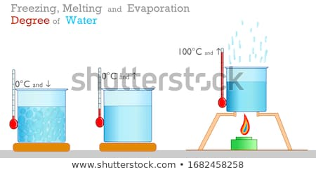 Science experiment with heat and freeze Stock photo © bluering