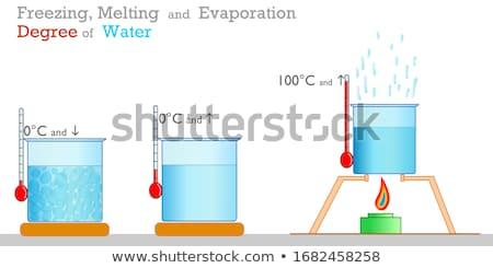 Tudomány kísérlet hő fagy illusztráció tűz Stock fotó © bluering