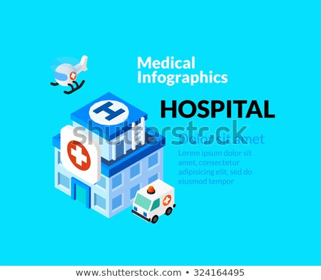 Medical healthcare infographic set with isometric flat icons, reanimation concept Stock photo © sidmay