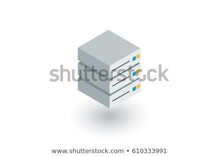 связи изометрический икона изолированный цвета вектора Сток-фото © sidmay