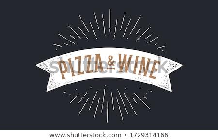 кусок · пиццы · дизайна · знак · икона · долго - Сток-фото © alexmillos
