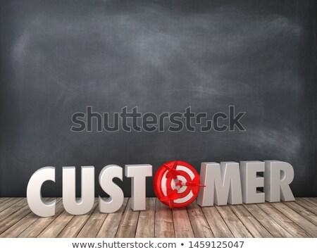 Customer Targeting - Text on Black Chalkboard. 3D Rendering. Stock photo © tashatuvango