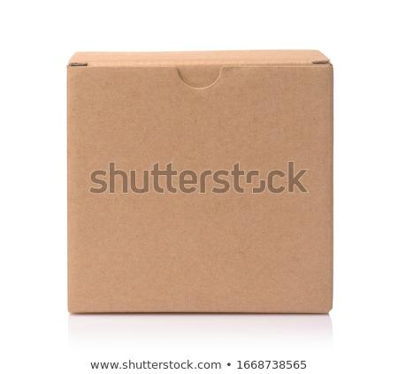 újrahasznosított barna kártya tábla doboz vázlat Stock fotó © Akhilesh