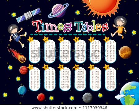 Math Times Tables Space Scene Stock photo © bluering