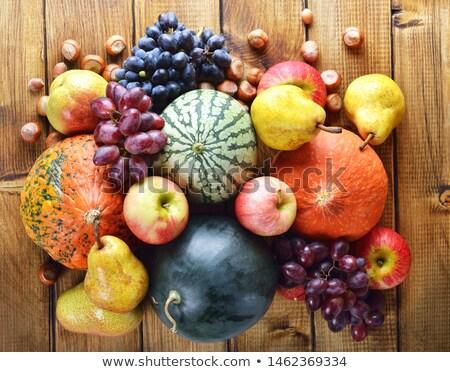 őszi gyümölcsök zöldségek egyezség izolált fehér Stock fotó © Vitalina_Rybakova