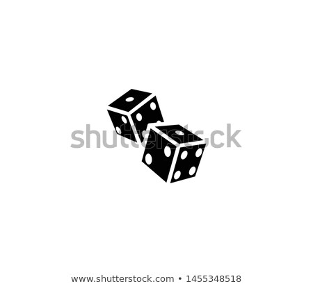 hand throwing two dices isolated on white background stock photo © inxti