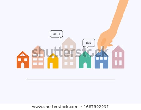 Domu sprzedaży banner podpisania biały działalności Zdjęcia stock © alexmillos