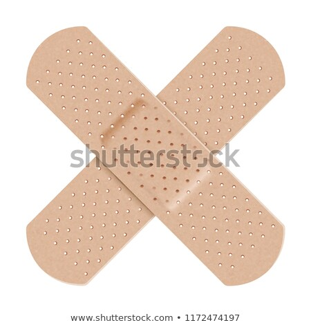 adhesivo · yeso · aislado · blanco · textura · cruz - foto stock © m_pavlov
