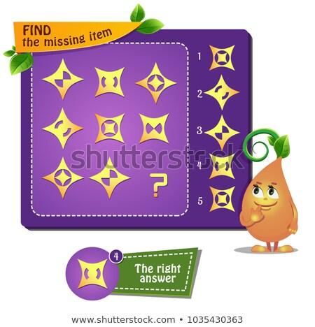 Finden fehlt Stück Formen pädagogisch Spiel Stock foto © Olena