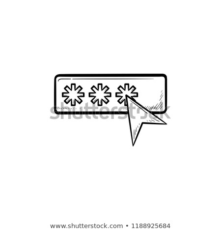 Senha cursor rabisco ícone Foto stock © RAStudio