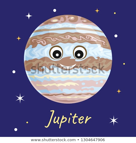 Felice cartoon illustrazione pianeta guardando sorridere Foto d'archivio © cthoman